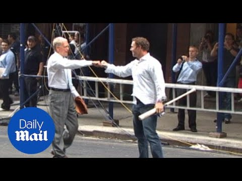 Josh Hamilton shows off batting skills with David Letterman - Daily Mail