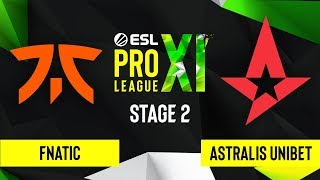 CS:GO - Astralis UNIBET vs. Fnatic [Dust2] Map 1 - ESL Pro League Season 11 - Stage 2