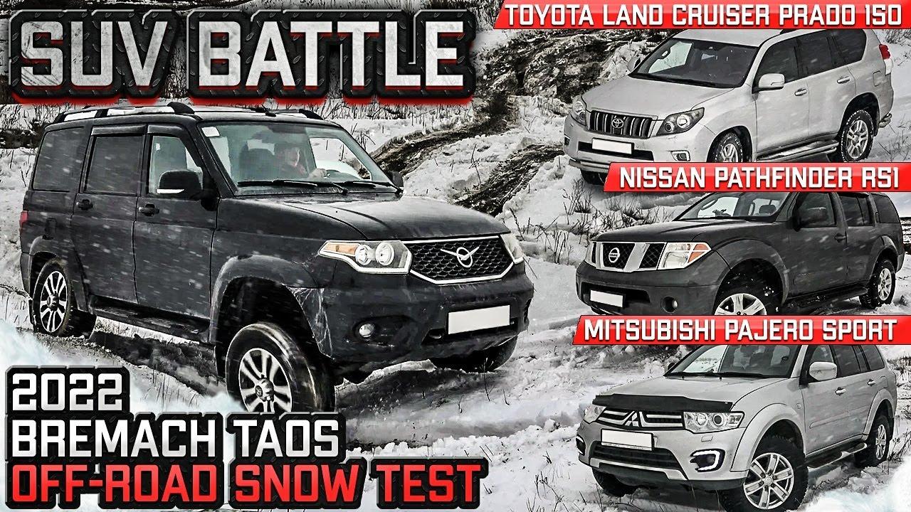 SUV Battle 2021: New Bremach Taos vs. Nissan Pathfinder, Mitsubishi Pajero Sport & Toyota Prado 150