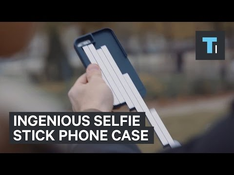 detailed look 46b1c 3abbe This ingenious phone case transforms into a selfie stick - YouTube
