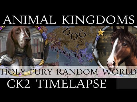 CK2 Timelapse: Holy Fury Animal Kingdoms - Random New World