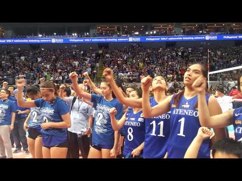 Ateneo sings alma mater song after winning title