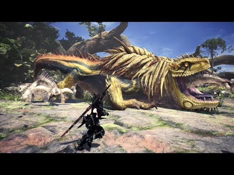 Monster Hunter World: GIANT Arch Tempered Great Jagras Boss Fight