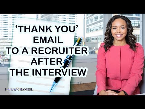 THANK YOU EMAIL AFTER MEETING RECRUITER