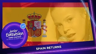 Spain returns to the Junior Eurovision Song Contest!