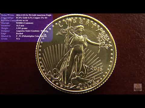 2016 1/10 Oz American Eagle 5$ Gold Coin Review