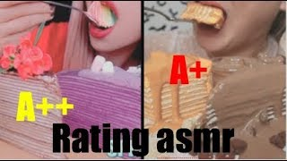 Rating asmr foods