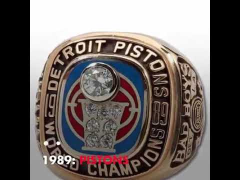 THE NBA CHAMPIONSHIP RINGS OF THE LAST 30 YEARS