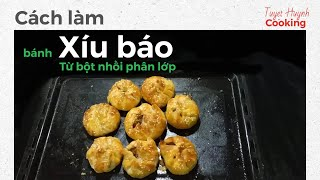 Video 3: cách làm bánh xíu báo từ bột nhồi phân lớp ( video 1)
