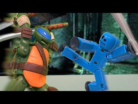 tmnt-2017-stop-motion-leonardo-vs-stikbot-special!