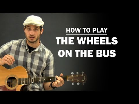 The Wheels On The Bus | Beginner Guitar Lesson | How To Play - YouTube
