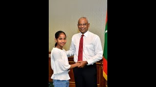 President meets with the Table Tennis Silver medalist for Maldives