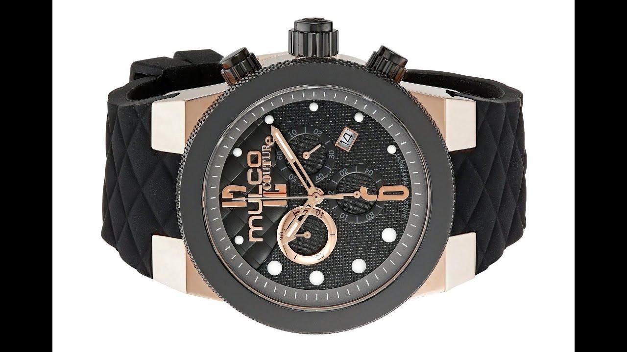 mulco men s couture analog display swiss quartz black watch mulco men s couture analog display swiss quartz black watch