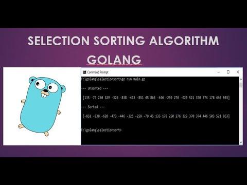 Selection Sort Golang | Data structure | Golang Tutorial