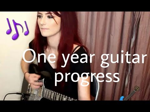 One year Guitar Progress (self taught) / Nicole Warry