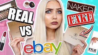 TESTING REAL VS FAKE EBAY MAKEUP BOUGHT UNDER £10! 😱