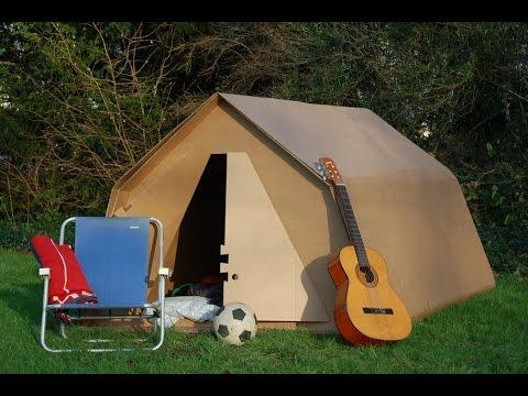 Smurfit Kappa KarTent - the cardboard festival tent & Smurfit Kappa: KarTent - the cardboard festival tent - YouTube