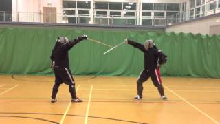 AHF Military Sabre fencing Mike vs Nick.mov