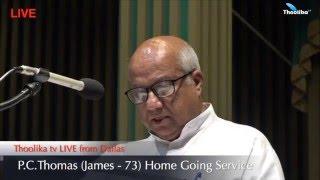 P.C.Thomas (James - 73) Funeral Service