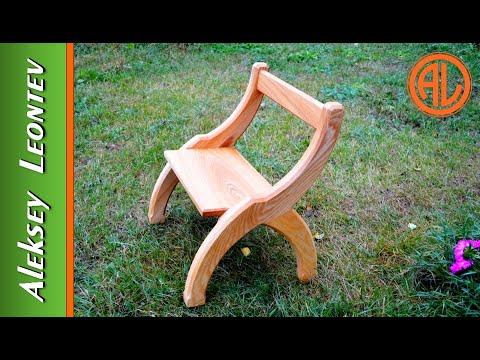 видео: Необычный деревянный стул. Мебель из дерева  / diy wooden chair.  ash