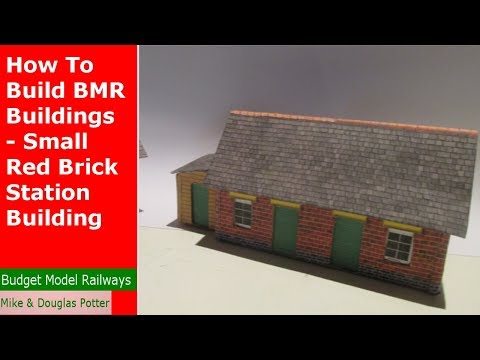 How To Build Budget Model Railway Buildings – OO Gauge – Small Station Building – Red Brick