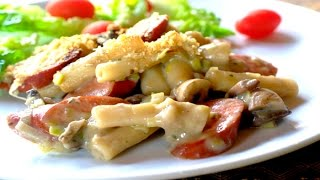 Pasta Horneada Con Tamales Secos / Cómo Hacer Pasta Horneada