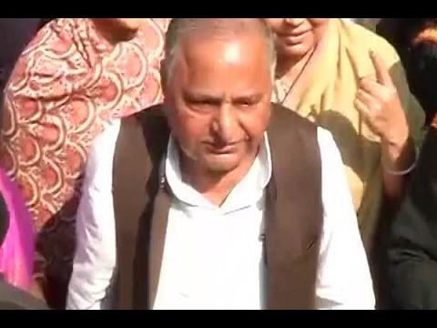UP Polls: Mulayam Singh Yadav casts his vote in Saifai