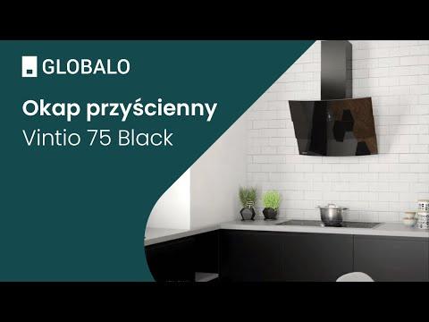 Okap przyścienny GLOBALO Vintio 75.2 Black | Ciche i wydajne okapy GLOBALO