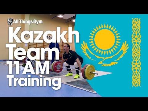 Kazakh Team Training 11AM 15.06.2015 Zhassulan Kydyrbaev Ilya Ilyin Vladimir Sedov