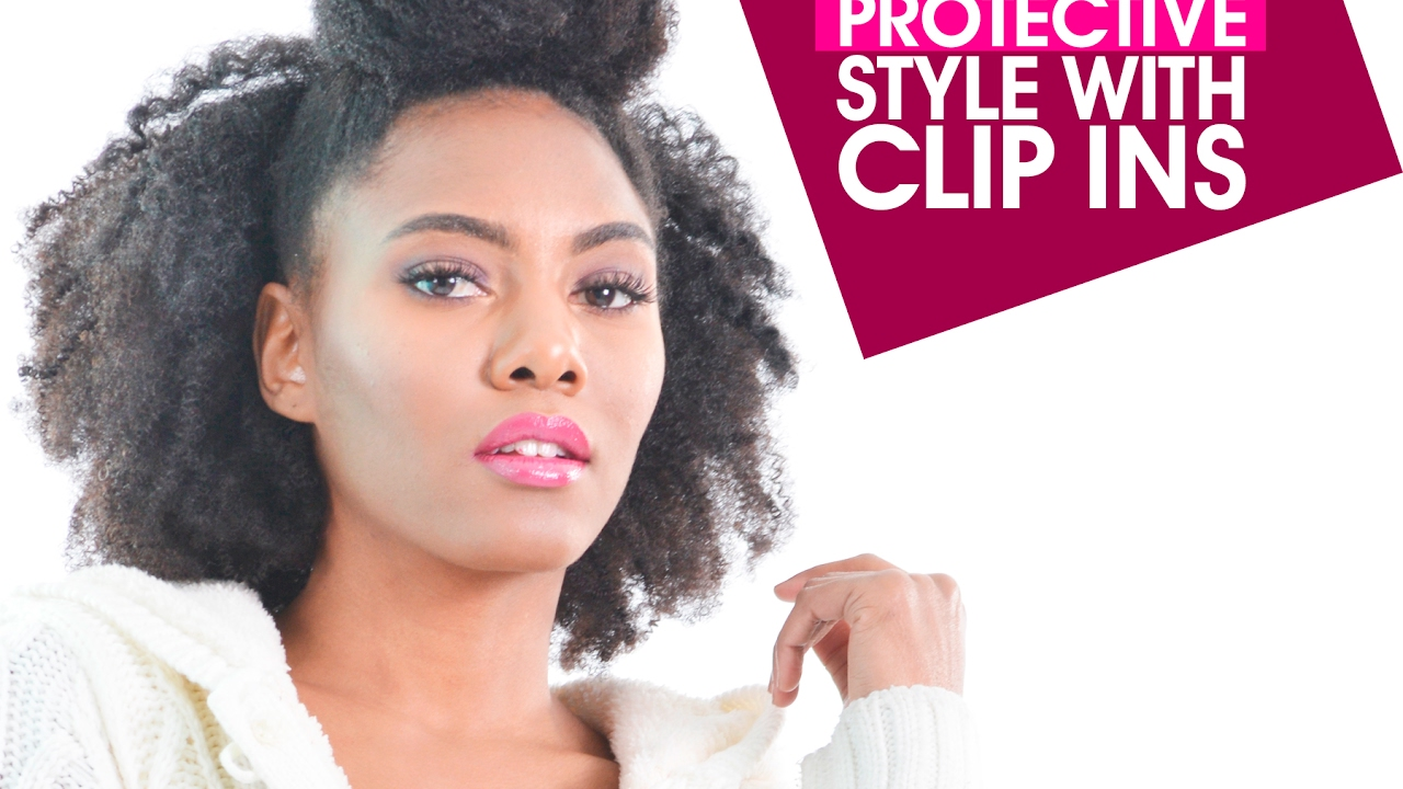 Quick Protective Style For Short 4c Natural Hair Kinky Clip Ins