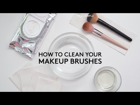 How to Clean Makeup Brushes | Real Simple