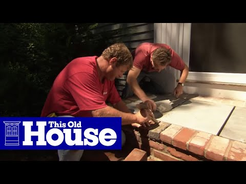 How To Install A Bluestone Landing On A Front Entry This