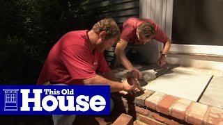 How To Install A Bluestone Landing On A Front Entry - This Old House