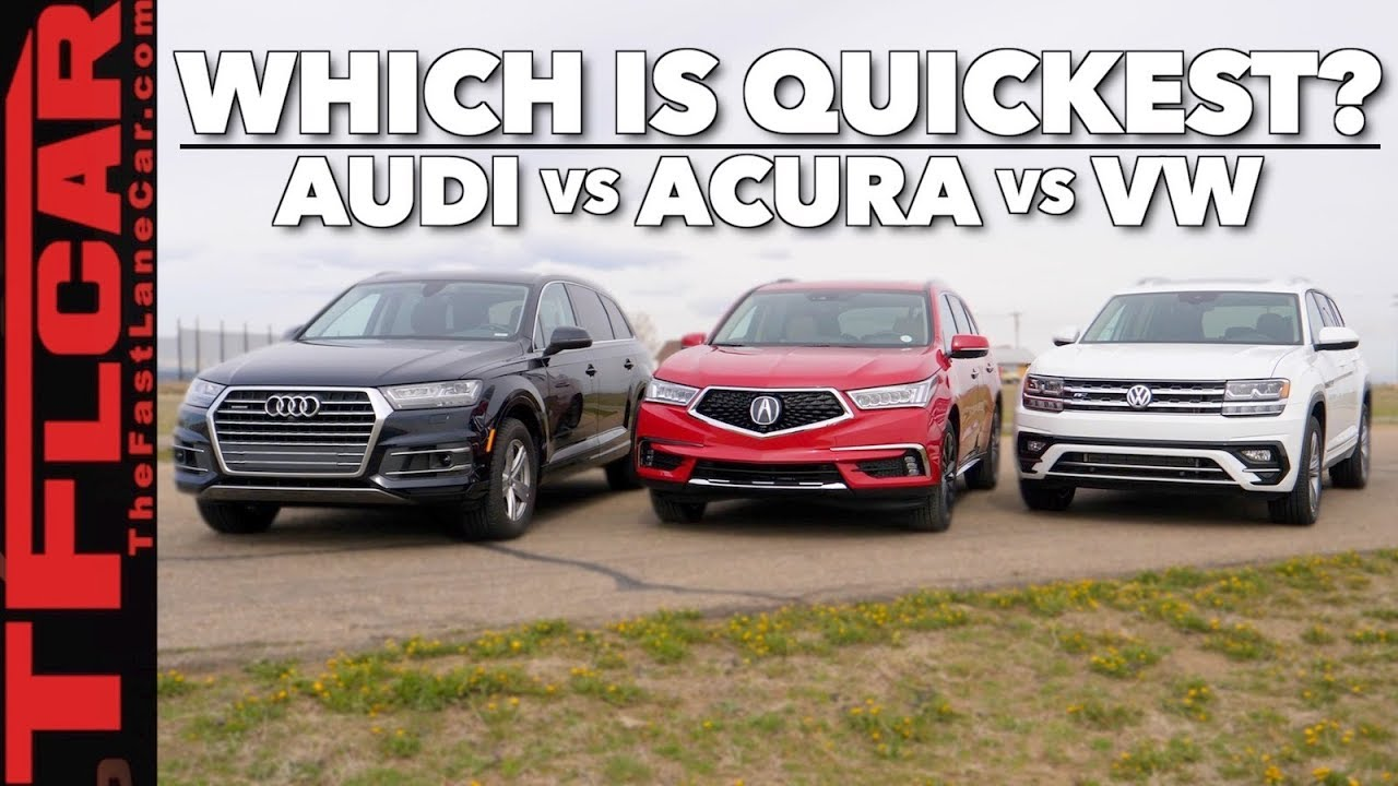 Will 2 0l Turbos Rule The World 2018 Audi Q7 Vs Acura Mdx Vs Vw