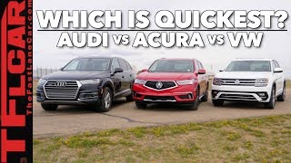 Will 2.0L Turbos Rule the World? 2018 Audi Q7 vs Acura MDX vs VW Atlas Drag Race