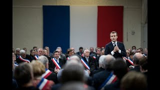 Grand Débat d'Emmanuel Macron avec les maires d'Occitanie à Souillac