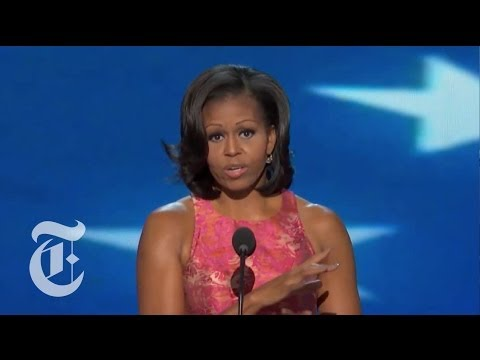 Election 2012 | Michelle Obama's DNC Speech | The New York Times