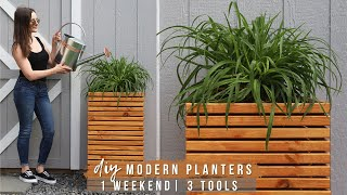 EASY DIY PLANTERS (IN 1 WEEKEND & WITH 3 POWER TOOLS)!