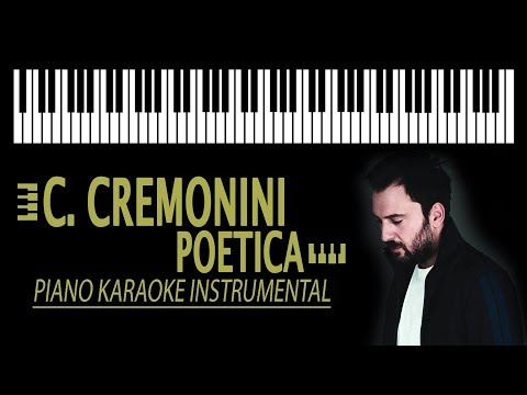 CESARE CREMONINI - Poetica KARAOKE (Piano Version)