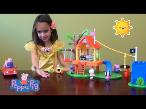 Peppa Pig Story, Peppa Pig's Treehouse and George's Fort Playset: Peppa PigToys