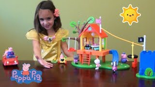 Peppa Pig Story: Peppa Pig's Treehouse and George's Fort Play Time Story with Peppa PigToys