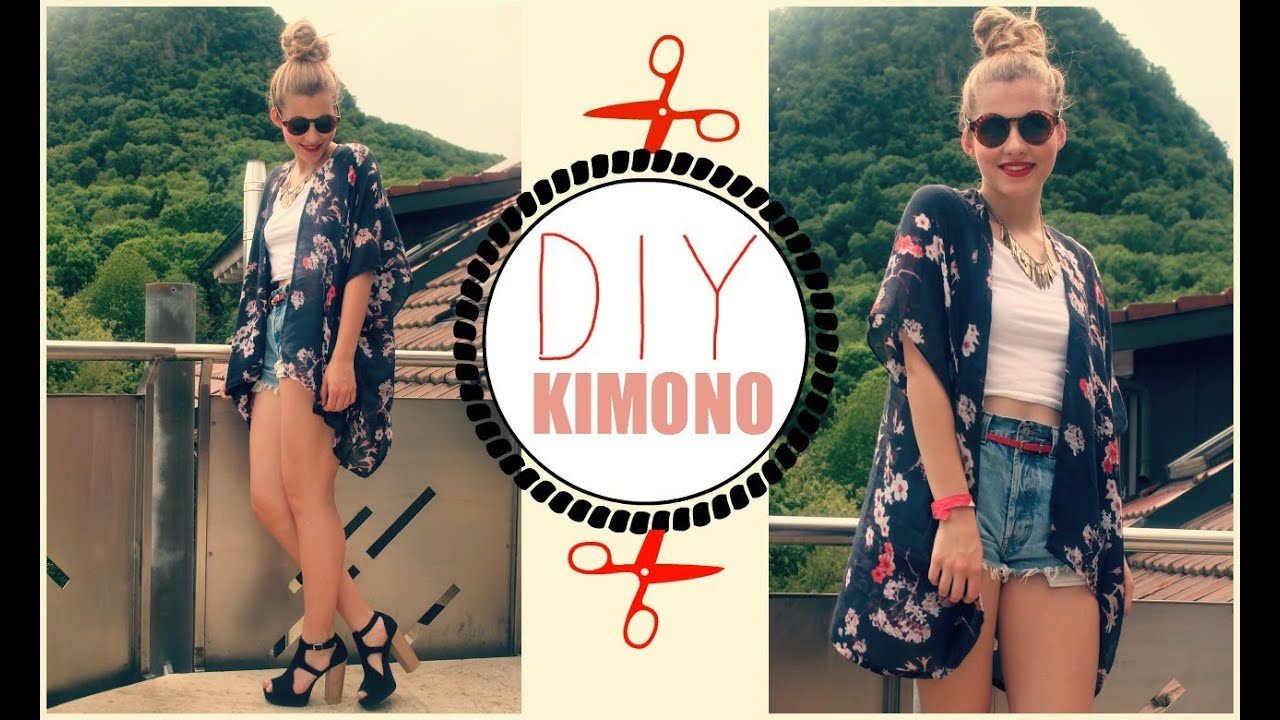 diy easy kimono neue fashionreihe youtube. Black Bedroom Furniture Sets. Home Design Ideas