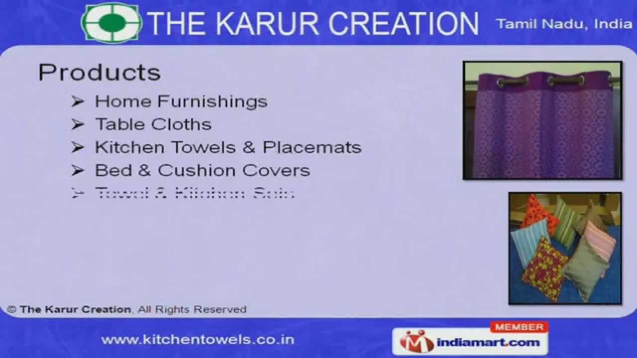 Home Furnishings by The Karur Creation, Karur