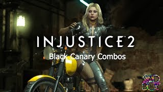 Injustice 2 - Black Canary(Canário Negro) - combos