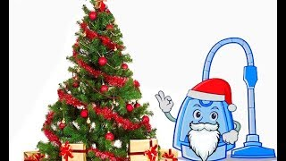 Пылесос Наряжает Елку с Эльзой | Vacuum Cleaner decorates a Christmas tree with Elsa | New Year 2018