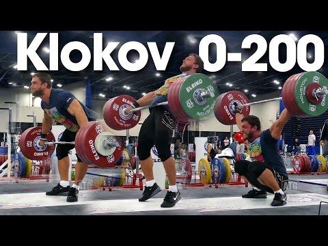 Dmitry Klokov 0 - 200kg Pause Snatch Full Session 2015 World Weightlifting Championships