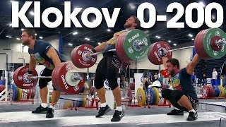 Dmitry Klokov 0 - 200kg Pause Snatch Full Session 2015 World Weightlifting Championships