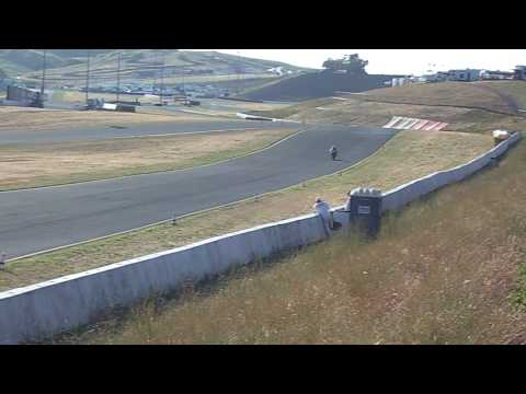 Zero Agni electric motorcycle practice lap at Infineon TTXGP