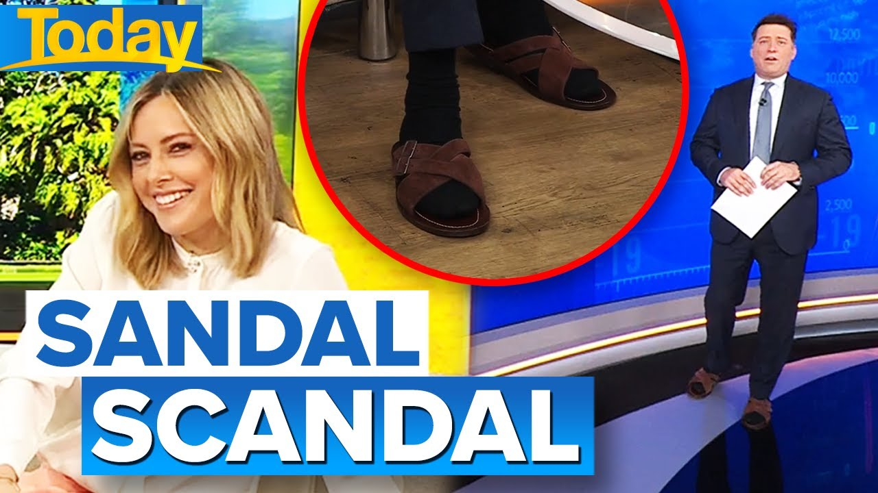 Ally calls out Karl for wearing socks and sandals on live TV   Today Show Australia