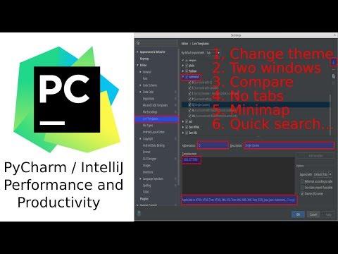 intellij pycharm tips for performance productivity and beauty - YouTube